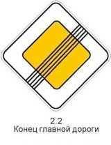 Знак 2.2 «Конец главной дороги»