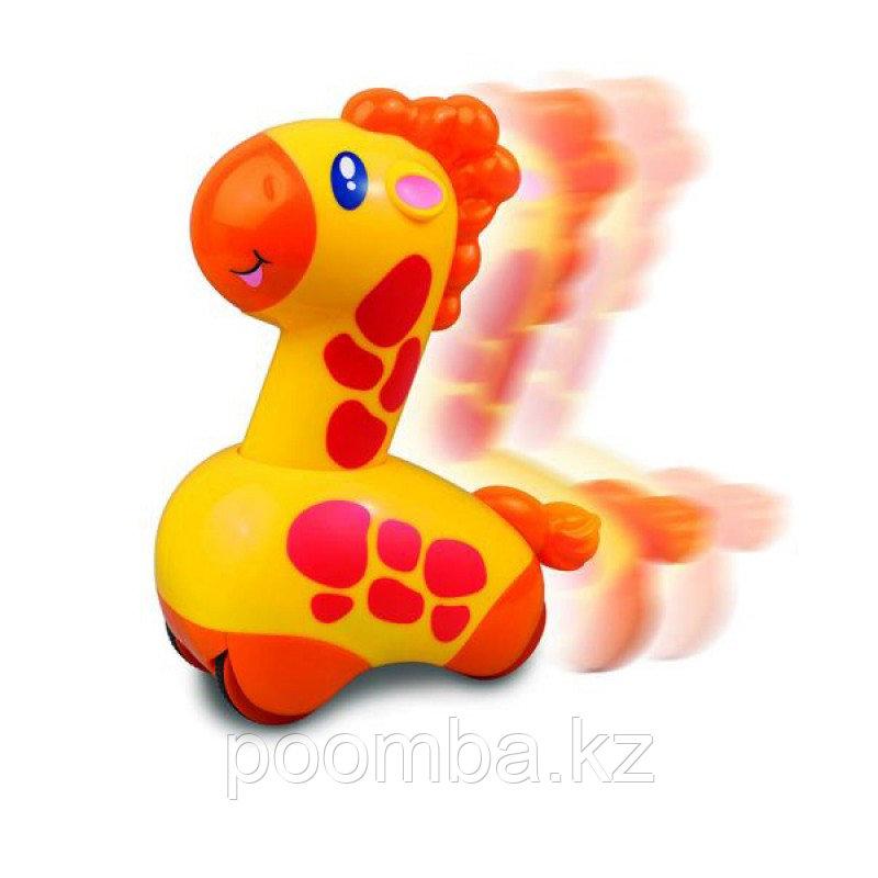 """Развивающая игрушка-каталка """"Нажми и поедет"""" - Жирафик"""