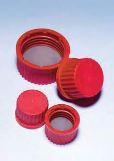 Крышка завинчивающаяся со вставкой d-32 мм, красная, исп. до 180*С (Pyrex)