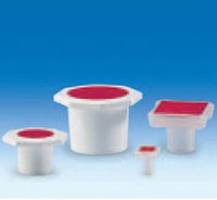 Пробка полипропиленовая со стандартным шлифом NS45/40, 6-гранной головкой и красной вставкой (PP) (VITLAB)