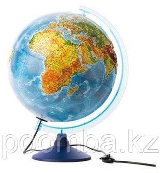 Глобус физико - политический  «Классик», d-210мм с подсветкой, пластик