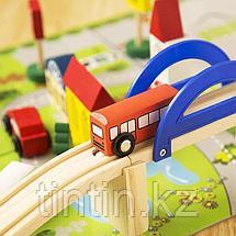 Деревянный городок с дорогой - Rail Overpass, 40 деталей, фото 2