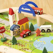 Деревянный городок с дорогой - Rail Overpass, 40 деталей, фото 3