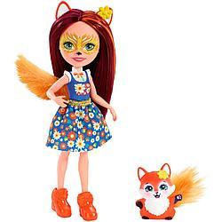 "Enchantimals Кукла ""Энчантималс"" с питомцем - Фелисити Лис, 15 см (FXM71)"