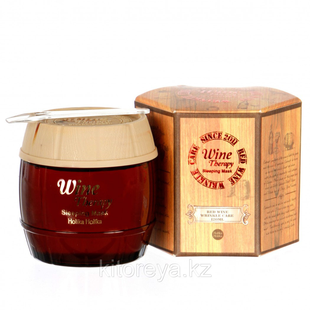 Holika Holika Wine Therapy Sleeping Mask Red Wine (120 мл) Ночная маска с красным вином