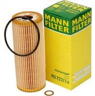 Масляный фильтр mann HU 727/1 х  элемент