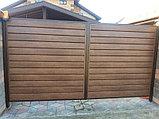 Откатные ворота из металлосайдинга, фото 3