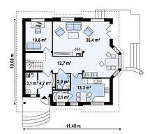 Строительство дома «под ключ» по проекту «Вирон», фото 2