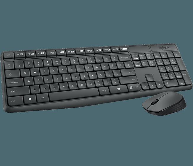Беспроводная клавиатура и мышь Logitech MK235