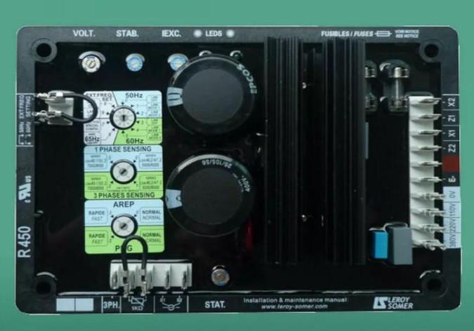 Трехфазный AVR R450T R450M для 20-500kw Дизельная генераторная установка, фото 2