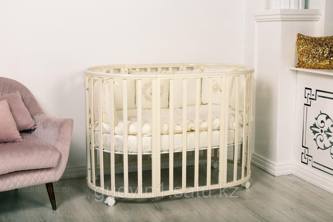 Кровать Incanto MIMI 7 в 1, цвет слоновая кость(поперечный маятник) 00-77243