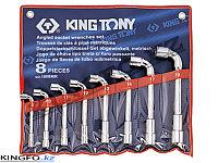 Набор торцевых Г- образных ключей 8 пр KING TONY 1808MR
