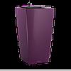 Горшки с автополивом настольные LECHUZA Maxi-Cubi - 14*14*26cm баклажановый