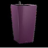 Горшки с автополивом настольные LECHUZA Maxi-Cubi - 14*14*26cm баклажановый, фото 1