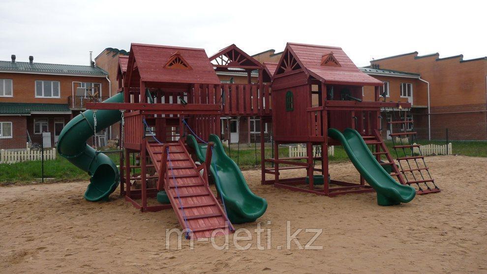 Элитный деревянный игровой комплекс Замок Эверест PlayNation