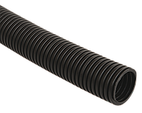 Труба гофр.ПНД d 16 с зондом (50 м) IEK черный