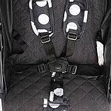 Коляска-трость Bambola Pallino Чёрный Black and White, фото 7