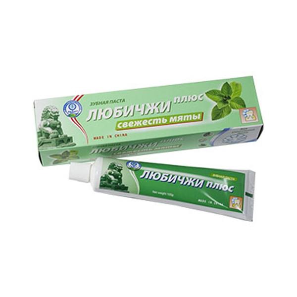 Зубная паста «Любичжи плюс Свежесть мяты»
