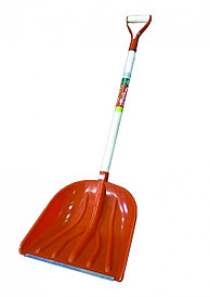 Снеговая лопата  автомобильная красная с металлической ручкой