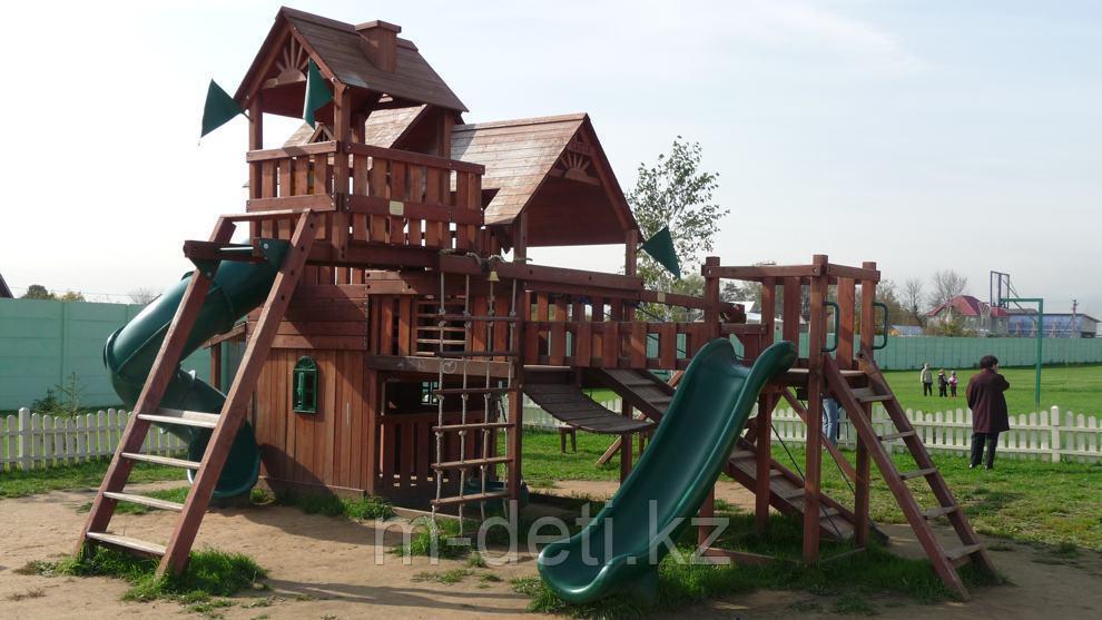 Деревянный игровой комплекс Домик охотника Deluxe PlayNation