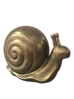 Садовая фигура Улитка, цвет бронзы, фото 1