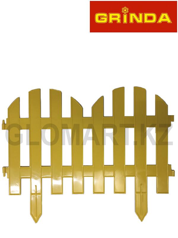 Забор декоративный GRINDA, 28×300см, желтый, 422205-Y