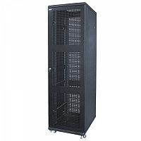 """Шкаф стандартный сетевой 19"""" 42U 600*800*2055 цвет серый, черный, передняя дверь стеклянная(тонирова"""