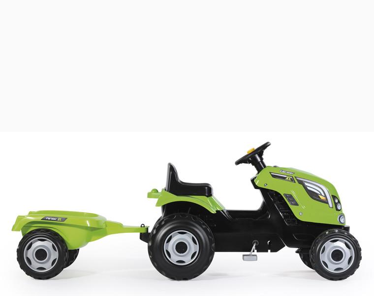 Трактор педальный с прицепом XL зеленый 710111 Smoby