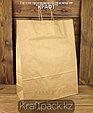 Бумажный пакет из крафт бумаги, бурый с ручкой 70гр 350*150*450 (250 шт/уп), фото 2
