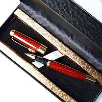 """Подарочная ручка """"под дерево"""" в коробке из эко кожи, фото 1"""