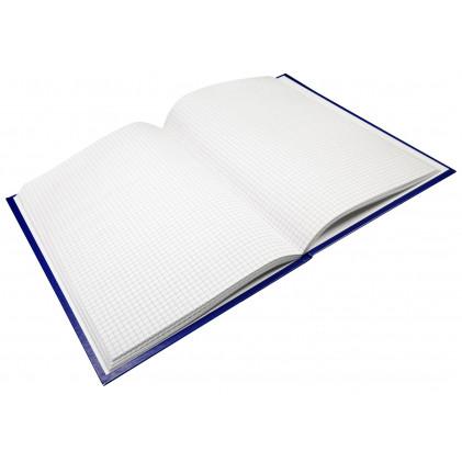 Книга учёта  144 листа, А4, клетка, обложка бумвинил , на клею, синий