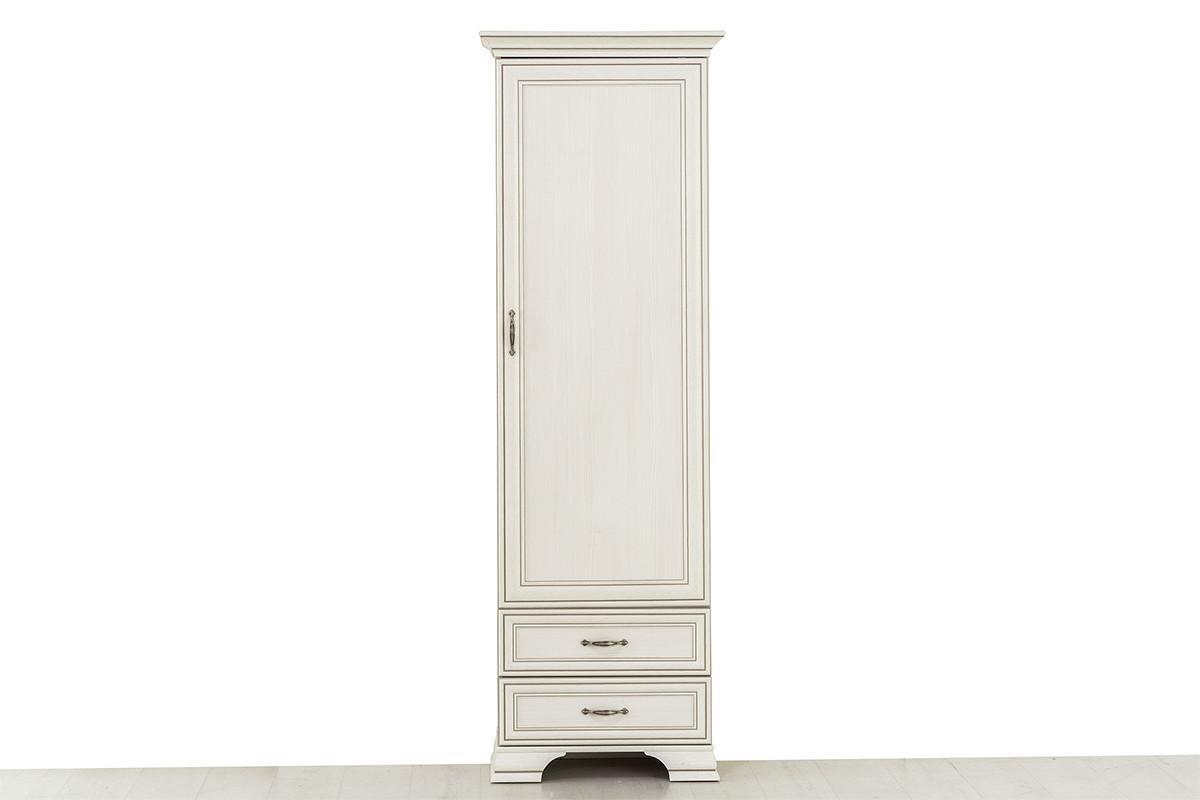 Шкаф пенал 1Д (Tiffany 1D2S), коллекции Тиффани, Вудлайн Кремовый, Анрэкс (Беларусь)