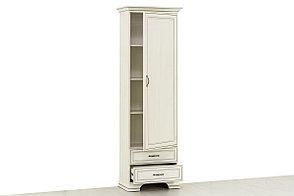 Шкаф пенал 1Д (Tiffany 1D2S), коллекции Тиффани, Вудлайн Кремовый, Анрэкс (Беларусь), фото 2