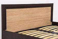 Кровать двуспальная (Denver 160, с подъёмн), коллекции Денвер, Дуб Янтарный, Анрэкс (Беларусь), фото 2