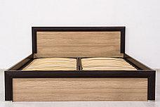 Кровать двуспальная (Denver 160), коллекции Денвер, Дуб Янтарный, Анрэкс (Беларусь), фото 2