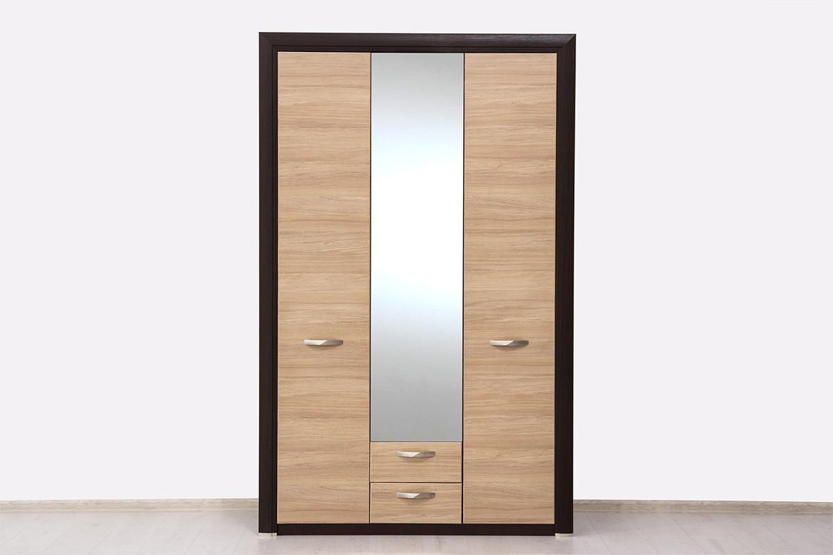 Шкаф для одежды 3Д (Denver 3D2SZ), коллекции Денвер, Дуб Янтарный, Анрэкс (Беларусь)