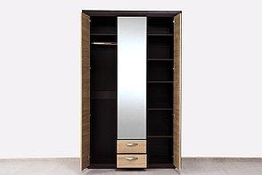 Шкаф для одежды 3Д (Denver 3D2SZ), коллекции Денвер, Дуб Янтарный, Анрэкс (Беларусь), фото 2