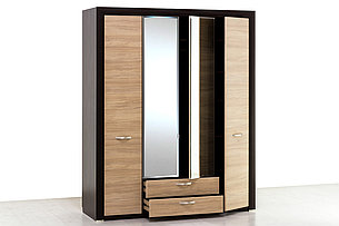 Шкаф для одежды 4Д (Denver 4D2S Z), коллекции Денвер, Дуб Янтарный, Анрэкс (Беларусь), фото 2