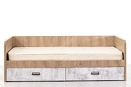 Кровать односпальная (Diesel 90-2/D2), коллекции Дизель, Дуб Мадура/Энигма, Анрэкс (Беларусь)