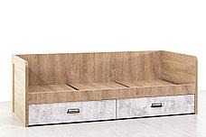 Кровать односпальная (Diesel 90-2/D2), коллекции Дизель, Дуб Мадура/Энигма, Анрэкс (Беларусь), фото 2