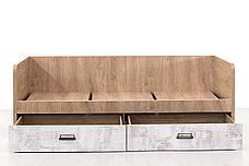 Кровать односпальная (Diesel 90-2/D2), коллекции Дизель, Дуб Мадура/Энигма, Анрэкс (Беларусь), фото 3
