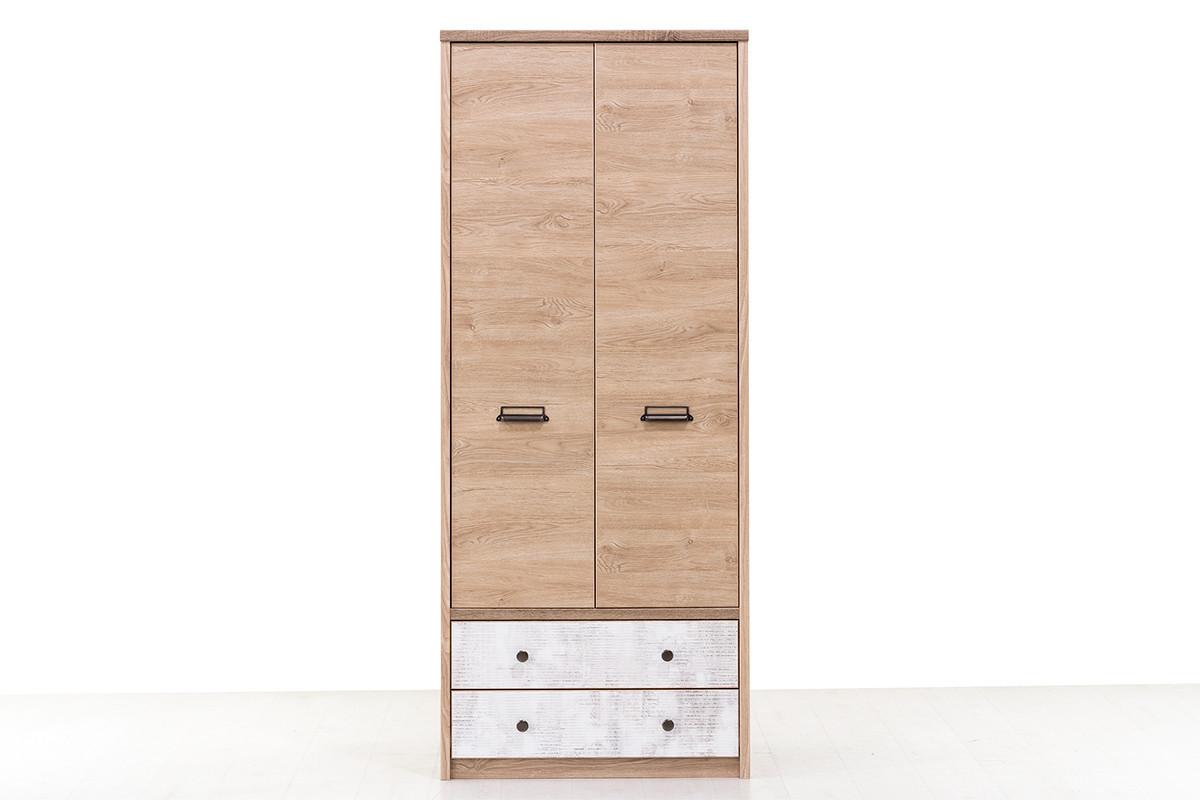 Шкаф для одежды 2Д (Diesel 2DG2S/D2), коллекции Дизель, Дуб Мадура/Энигма, Анрэкс (Беларусь)