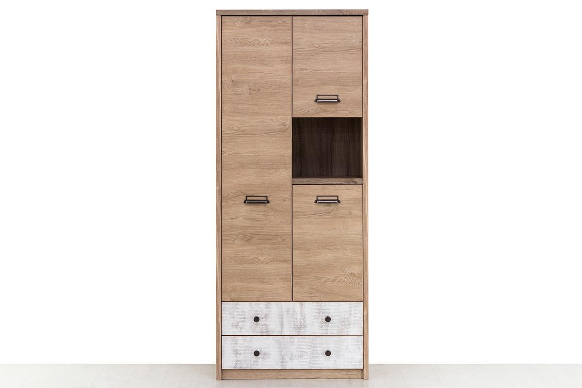 Шкаф для книг 3Д (Diesel 3D2SN/D2) коллекции Дизель, Дуб Мадура/Энигма, Анрэкс (Беларусь)