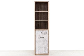 Шкаф пенал 1Д (Diesel 1D1S/D2) коллекции Дизель, Дуб Мадура/Энигма, Анрэкс (Беларусь), фото 2
