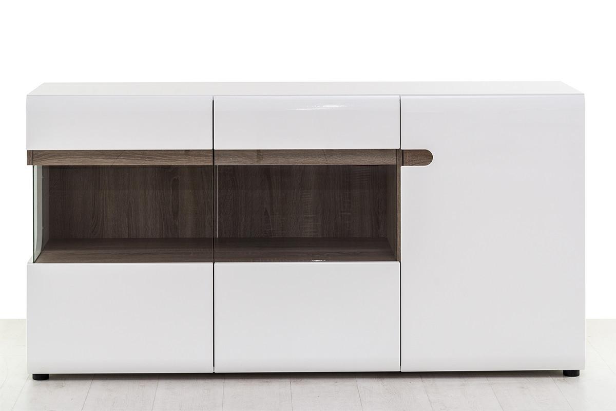 Шкаф витрина 3Д (Linate 3D/ TYP 42), коллекции Линате, Белый, Анрэкс (Беларусь)