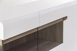 Шкаф витрина 3Д (Linate 3D/ TYP 42), коллекции Линате, Белый, Анрэкс (Беларусь), фото 2