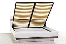 Кровать двуспальная (Linate 160/TYP 94-01) с подъемным механизмом, коллекции Линате, Белый, Анрэкс (Беларусь), фото 3