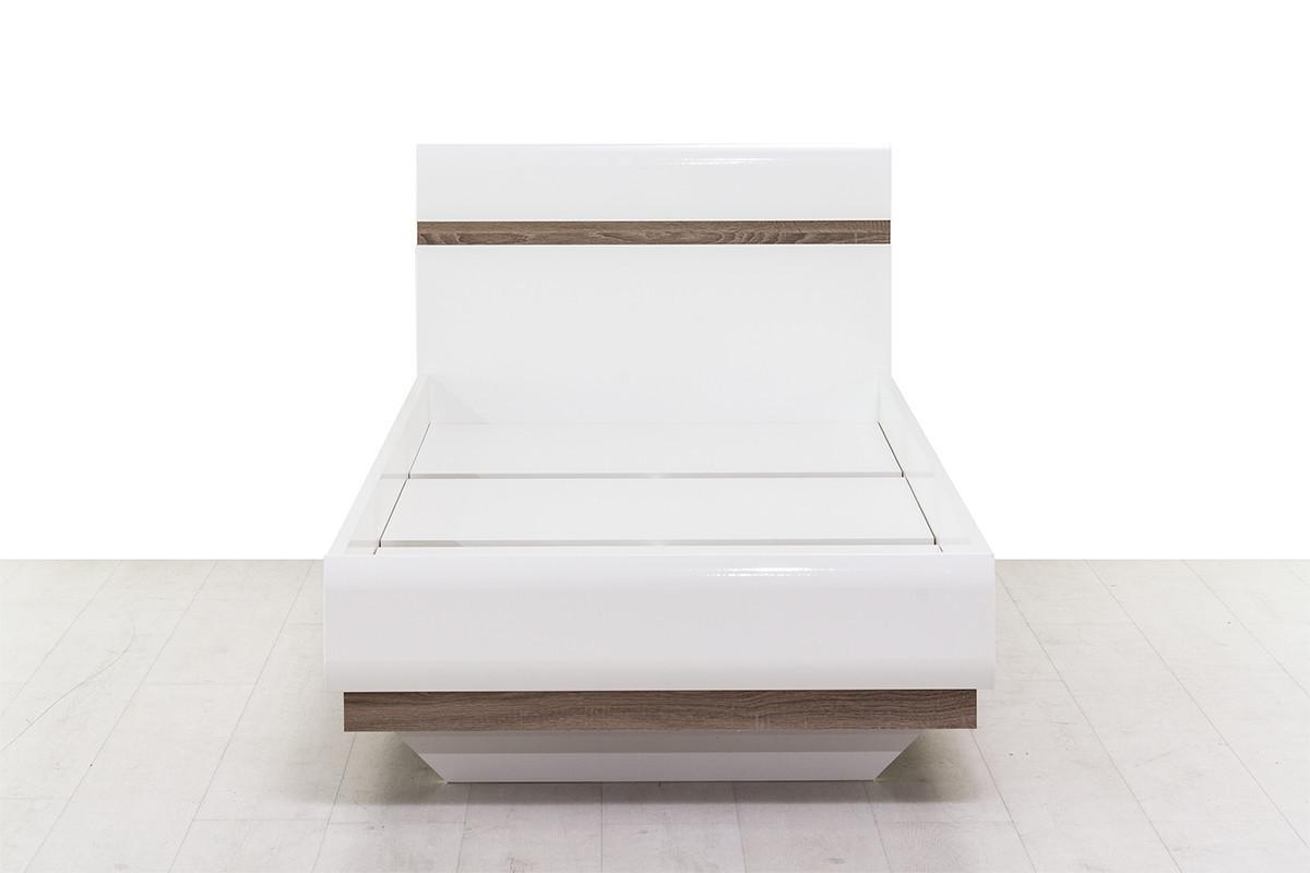 Кровать односпальная (Linate 90/TYP 90), коллекции Линате, Белый, Анрэкс (Беларусь)