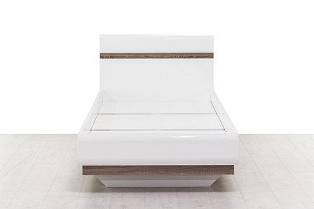 Кровать односпальная (Linate 90/TYP 90), коллекции Линате, Белый, Анрэкс (Беларусь), фото 2