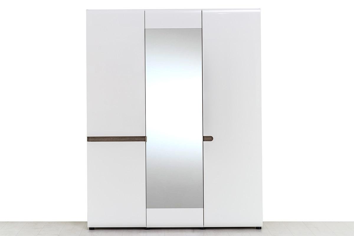 Шкаф для одежды 3Д (Linate 3D/TYP 22 А), коллекции Линате, Белый, Анрэкс (Беларусь)